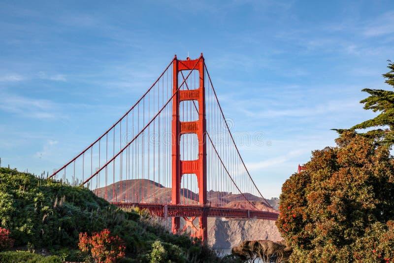 Vue du pont en porte d'or San Francisco, la Californie, Etats-Unis photos libres de droits