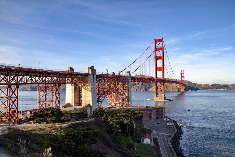 Vue du pont en porte d'or San Francisco, la Californie, Etats-Unis images libres de droits