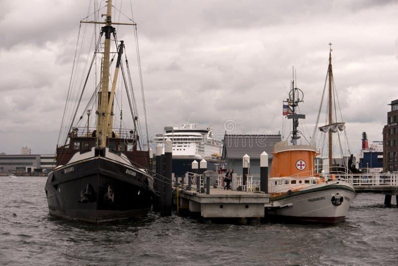 Vue du port de Kiel en Allemagne image stock