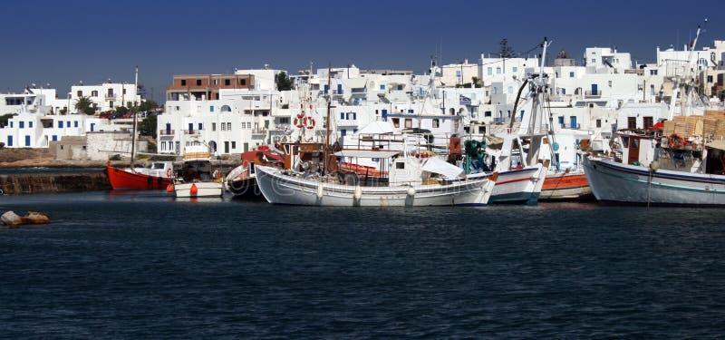 Vue du port de Naoussa photos libres de droits