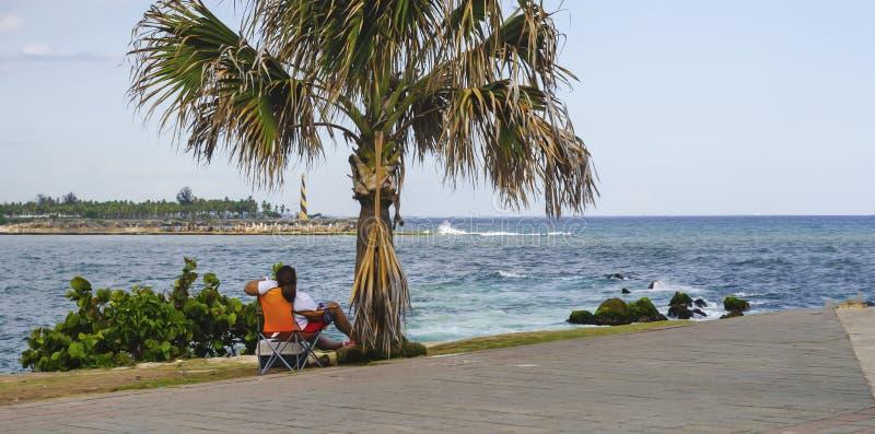 Vue du port de Santo Domingo Dominican Republic de place de Juan Baron images libres de droits