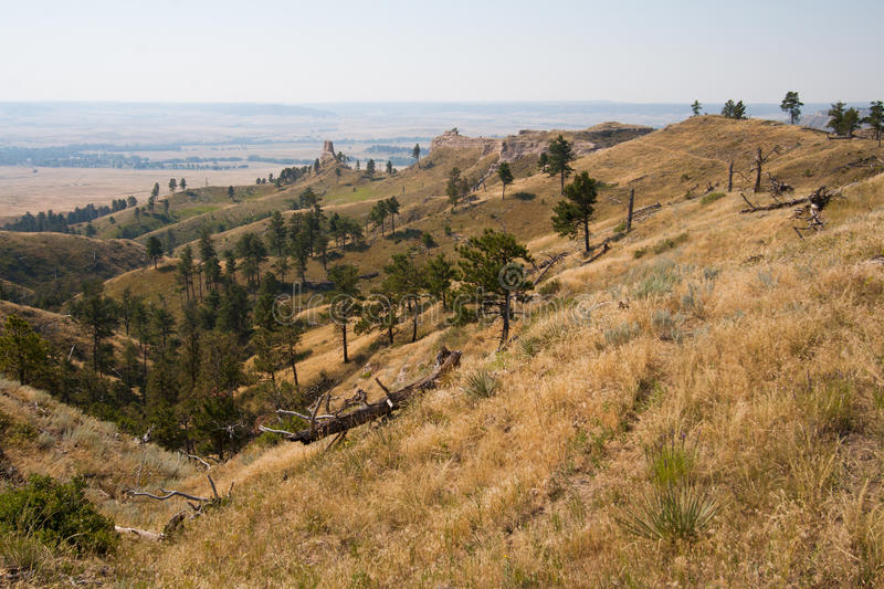 Vue du Ridge au fort Robinson State Park, Nébraska photo stock