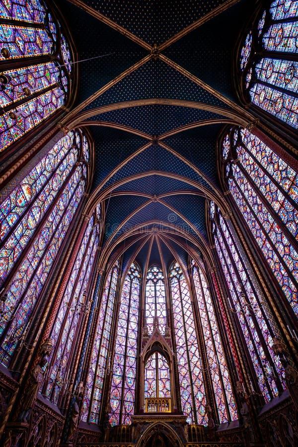 Vue du Sainte-Chapelle à Paris photo stock