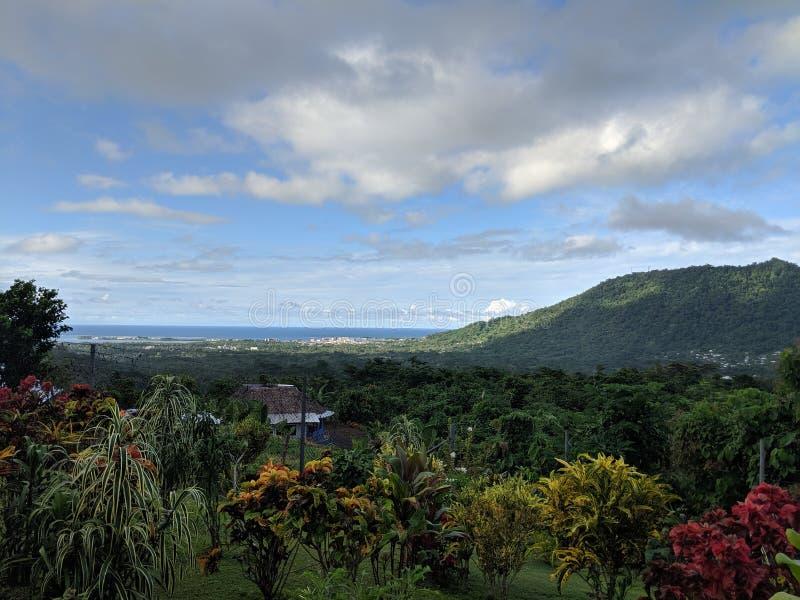 Vue du Samoa images libres de droits