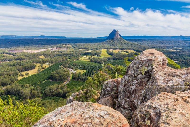 Vue du sommet du bâti Ngungun, montagnes en verre de Chambre, Qu photos stock