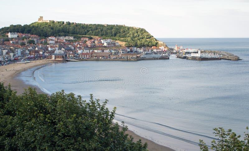 Vue du sud de baie de Scarborough North Yorkshire photos libres de droits