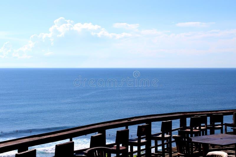 Vue du sud de plage de Kuta photos stock