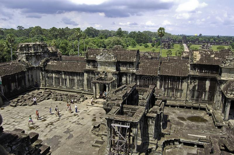Vue du temple d'Angkor Vat d'en haut, dans Canbodia image stock
