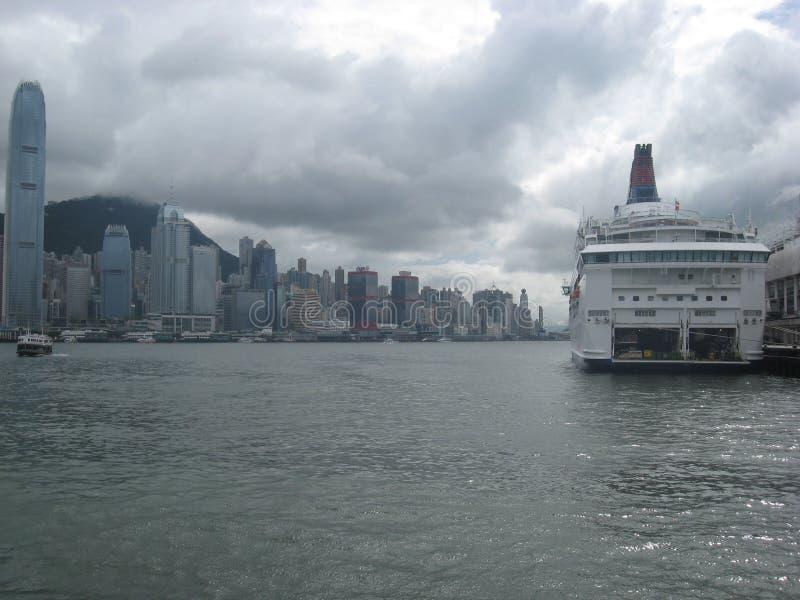 Vue du terminal de bateau de croisière, Tsim Sha Tsui, Kowloon, Hong Kong photos stock