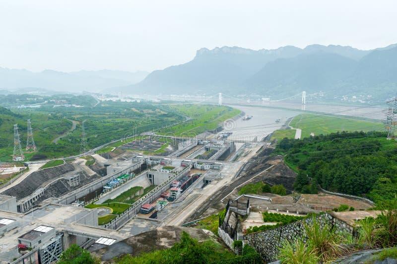 Vue du Three Gorge Dam photographie stock libre de droits