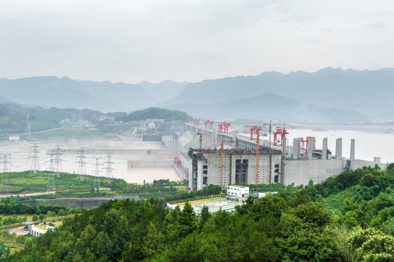 Vue du Three Gorge Dam photographie stock
