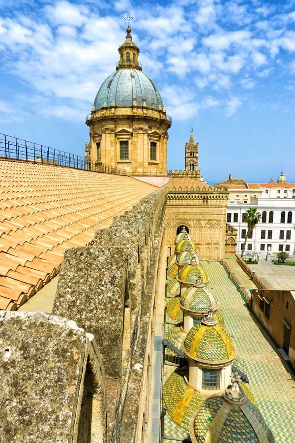 Vue du toit de la cathédrale de Palerme à Palerme, Italie photo stock