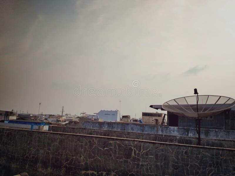 Vue du toit de la maison images libres de droits