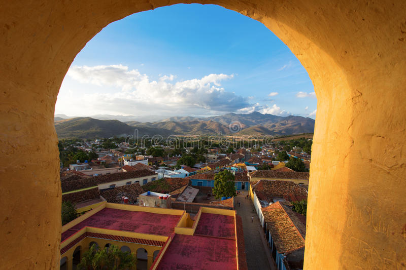 Vue du Trinidad, Cuba de  photo stock