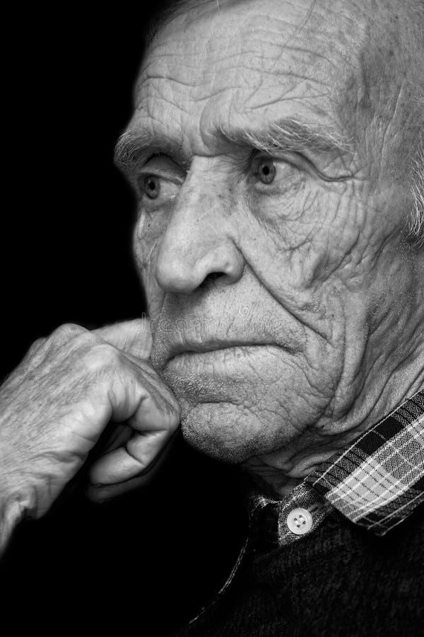 Vue du vieil homme photo stock