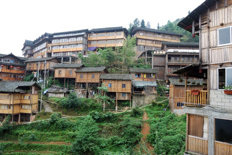 Vue du village chinois image stock