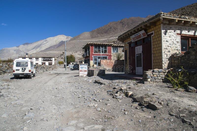 Vue du village Ekle Bhatti en Himalaya photo libre de droits