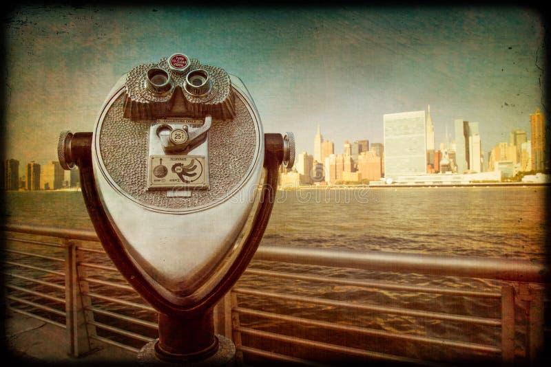 Vue du vintage NYC photos libres de droits