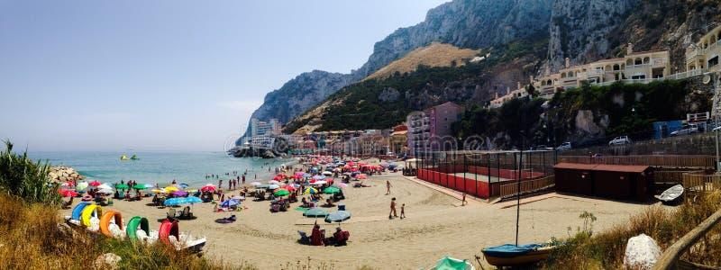 Vue eastside de roche du Gibraltar photos stock