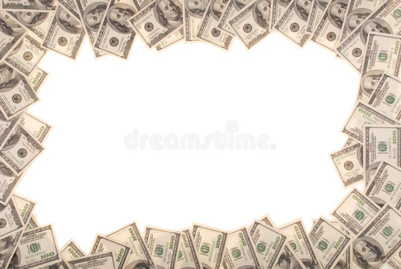 Vue effectuée à partir des billets d'un dollar photographie stock