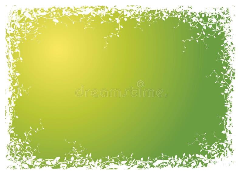 Vue effectuée à partir des fleurs illustration de vecteur