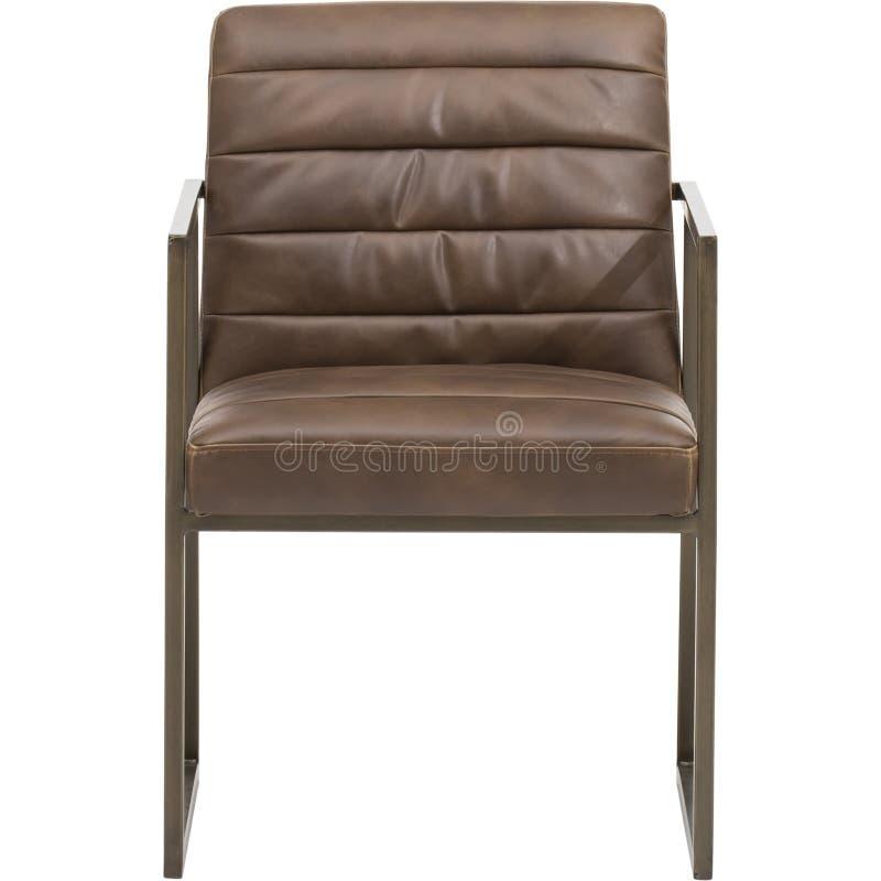 Vue en bois en bois avec des accoudoirs, des coussins de Bourgogne et des fauteuils de dossier, habillant la chaise confortable p photographie stock libre de droits