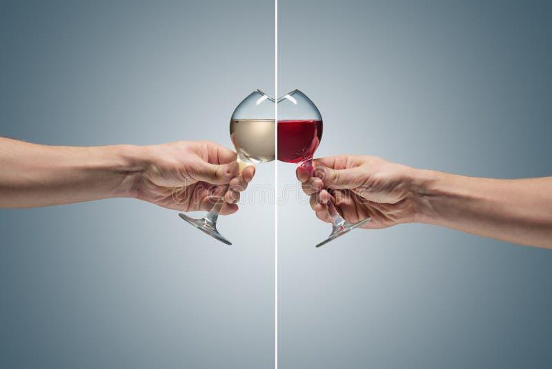 Vue en gros plan de verre de vin blanc image libre de droits