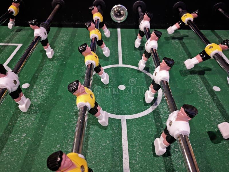 Vue en gros plan du football de table images stock