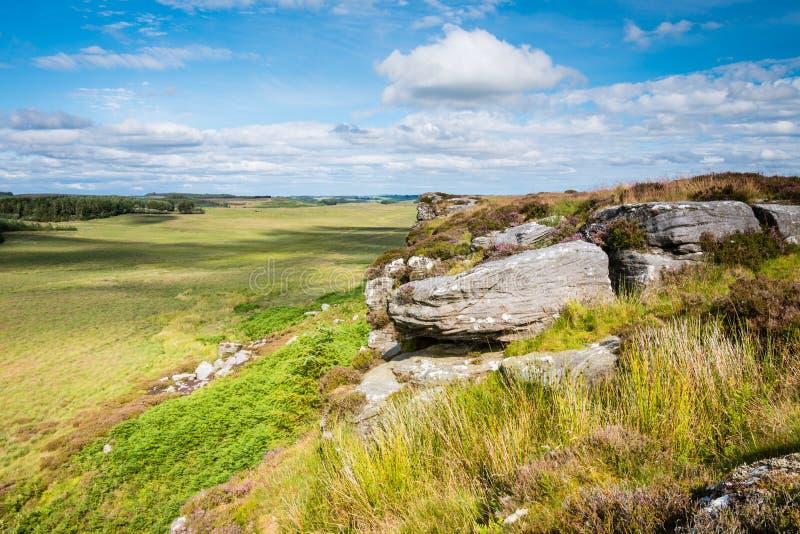 Vue est des rochers de Wanney photo libre de droits