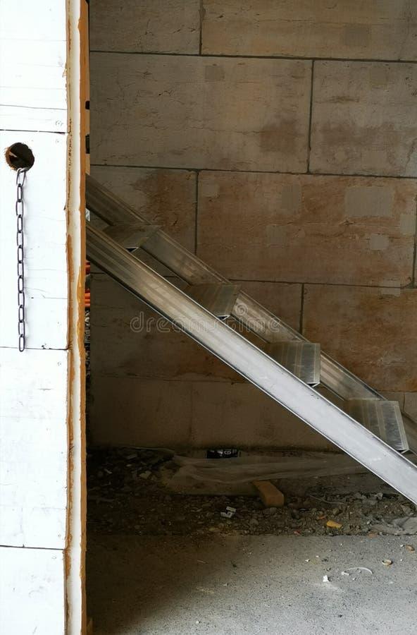 Vue et composition abstraites d'un endroit de construction photographie stock libre de droits
