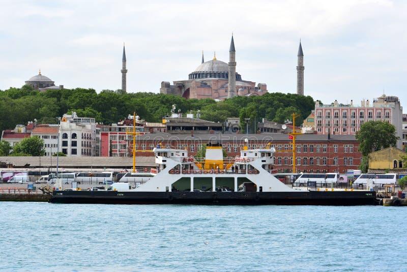 Vue et vue de Bosphorus, Istanbul, Turquie Hagia Sophia photo libre de droits