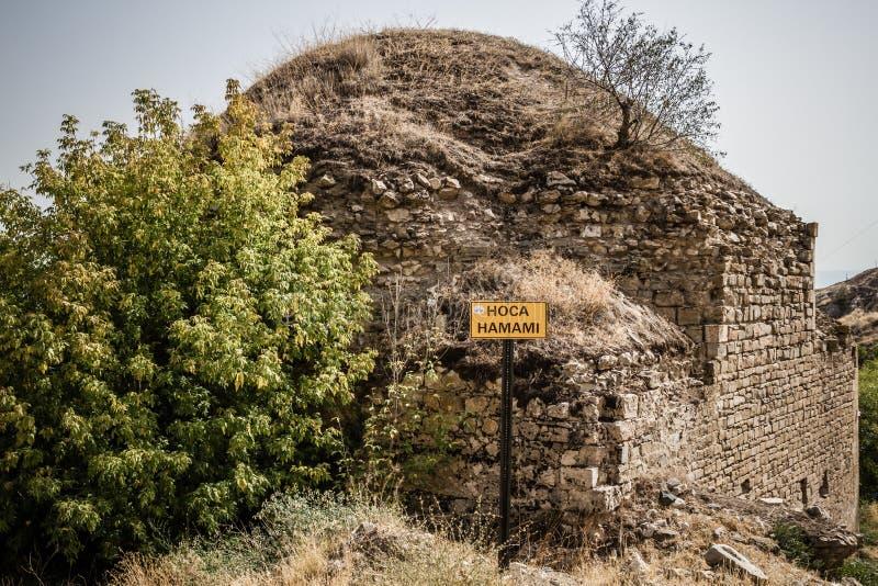 Vue extérieure de Bath turc dans Harput photo stock