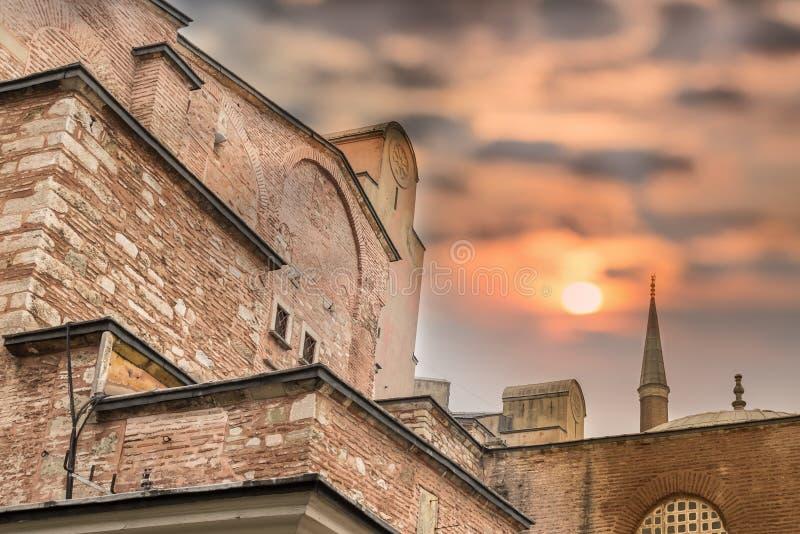Vue extérieure de Hagia Sophia à Istanbul, Turquie image libre de droits