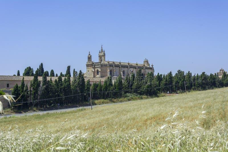 Vue extérieure du monastère de Cartuja, Jerez de la Frontera photographie stock libre de droits