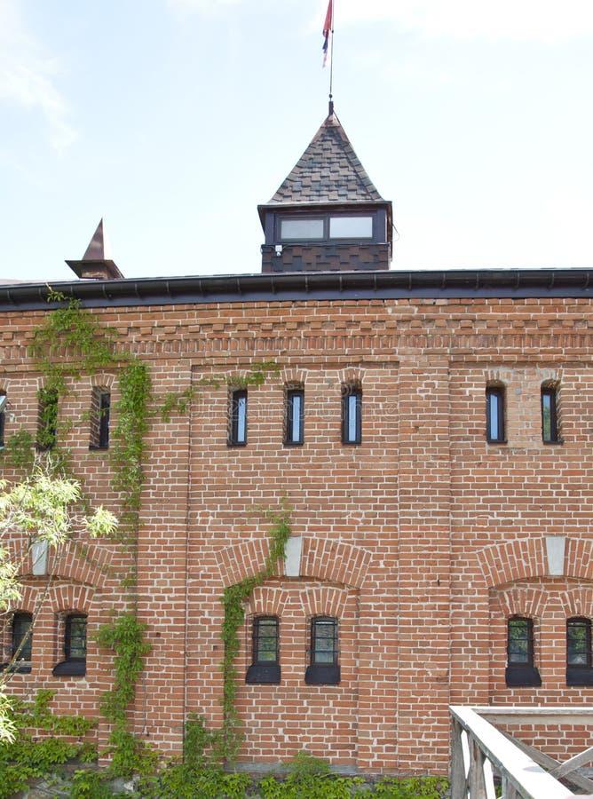 Vue externe du bâtiment historique Bâtiment de château de Radomysl Vieil extérieur de château ou de palais Structure histori photos stock