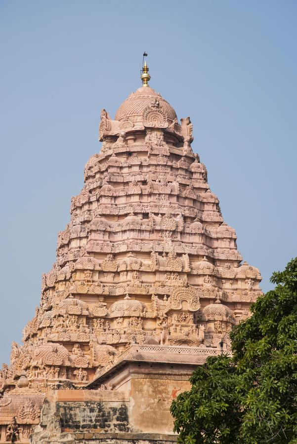 Vue externe du temple de Shiva, Gangaikonda Cholapuram, Tamil Nadu, Inde photo libre de droits
