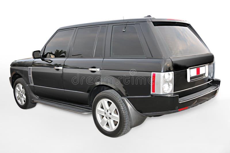 vue faisante le coin noire de Range Rover images libres de droits