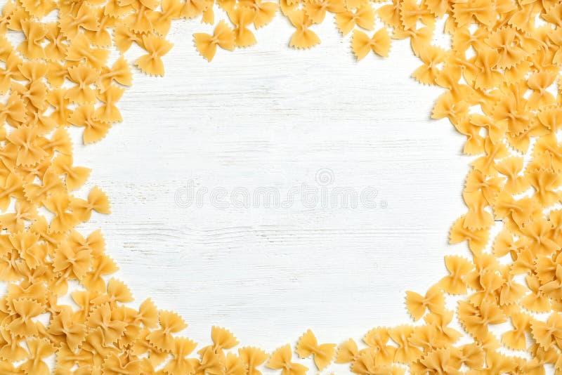 Vue faite de pâtes crues photos libres de droits