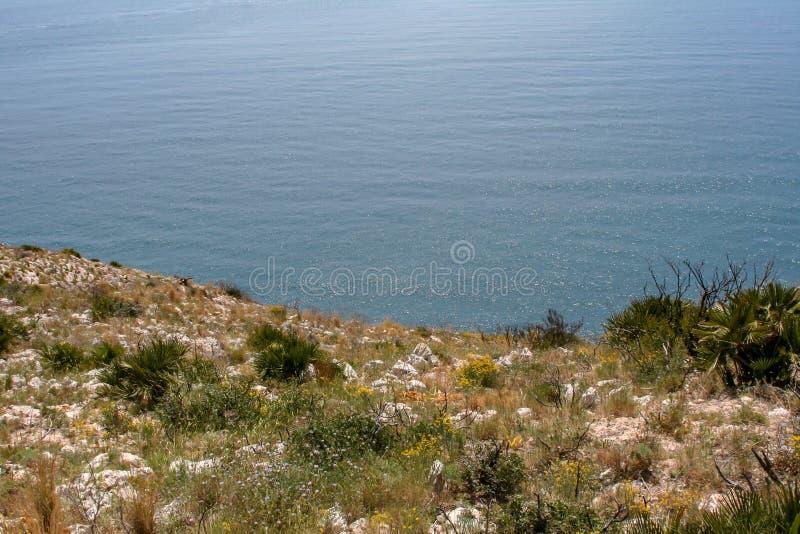 Vue fantastique au-dessus de la mer de l'Espagne image stock