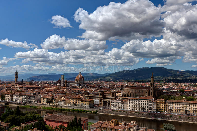 Vue Florence, Firenze, Toscane, Italie images libres de droits