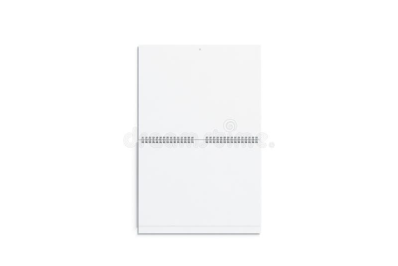 Vue franche de double moquerie blanche vide de calendrier mural illustration de vecteur