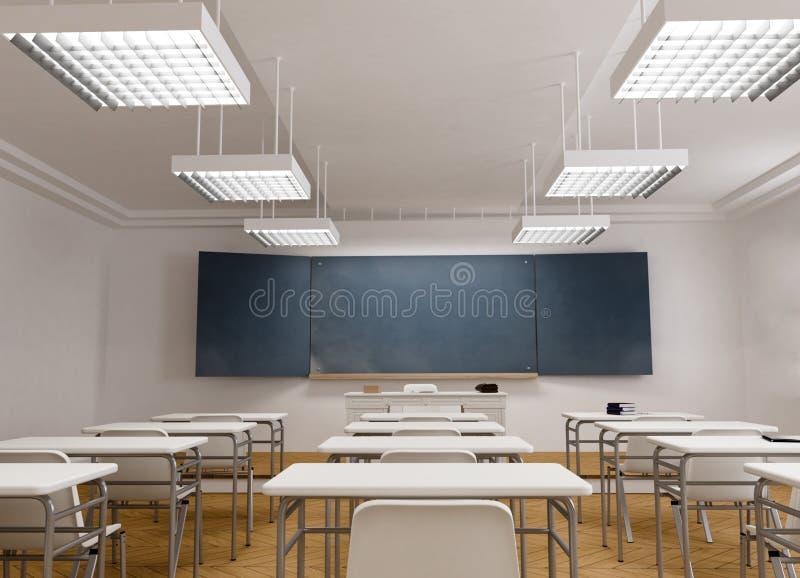 Vue frontale d'une salle de classe illustration de vecteur