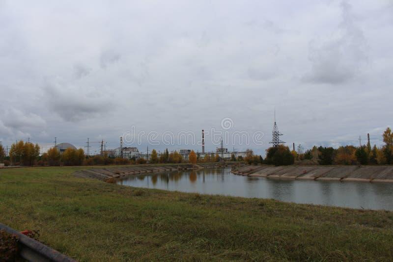 Vue générale de centrale nucléaire de Chernobyl le 27 octobre 2013 dans Pripyat, Ukraine photographie stock