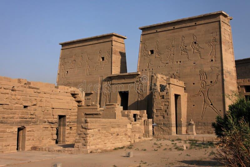 Vue générale de temple de Philae photo stock