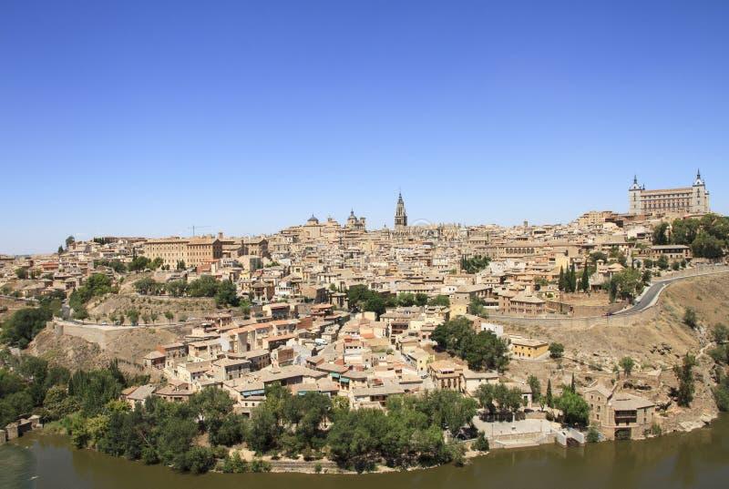 Vue générale de vieille ville de Toledo Voyage à travers l'Espagne images stock