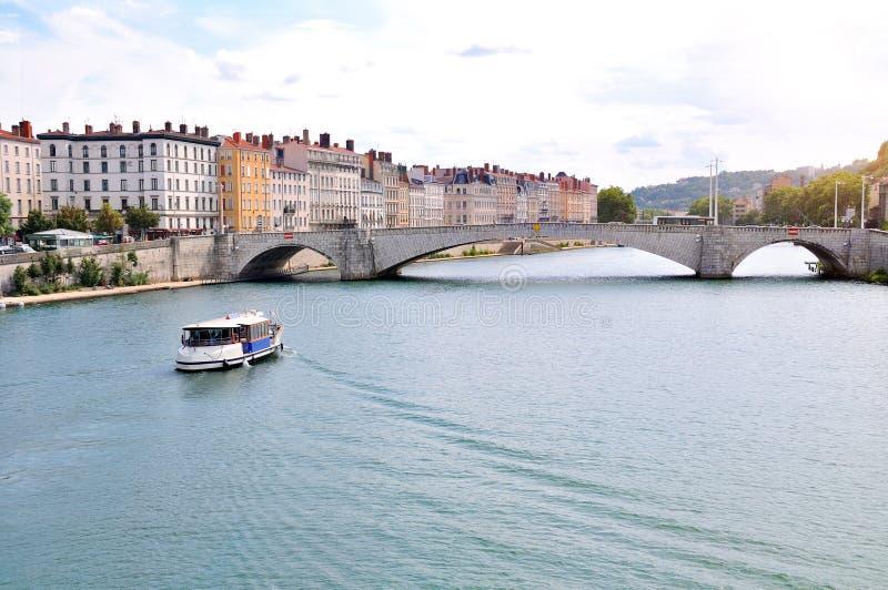 Vue générale des Frances de la Saône Lyon photographie stock libre de droits