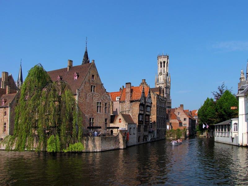 Vue gentille de Bruges images libres de droits