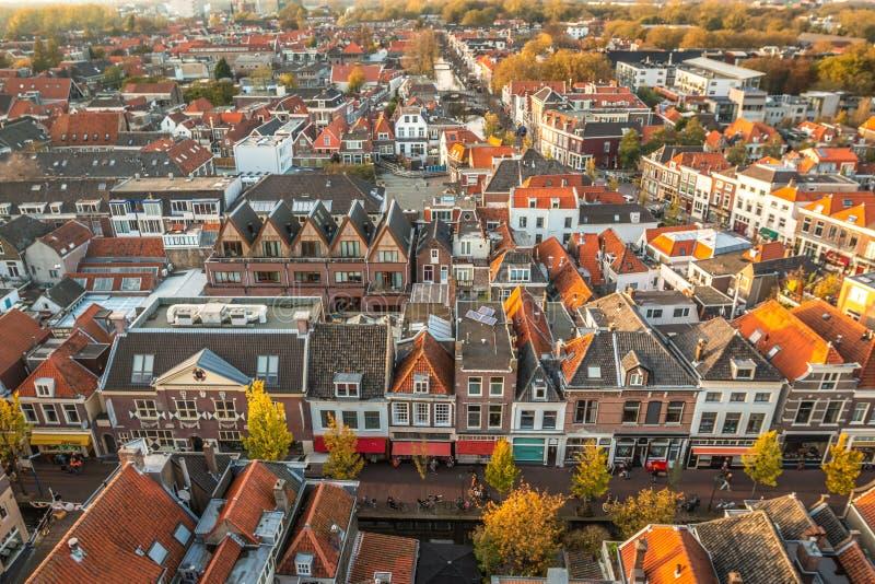 Vue gentille de Delft aux Pays-Bas images libres de droits