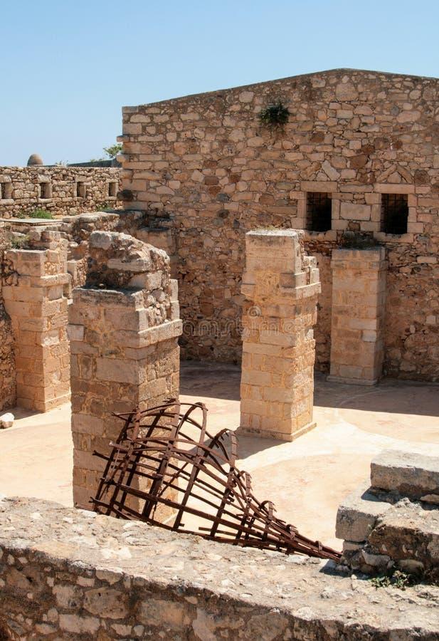 Vue gentille de Rethymno, Crète, Grèce photographie stock libre de droits