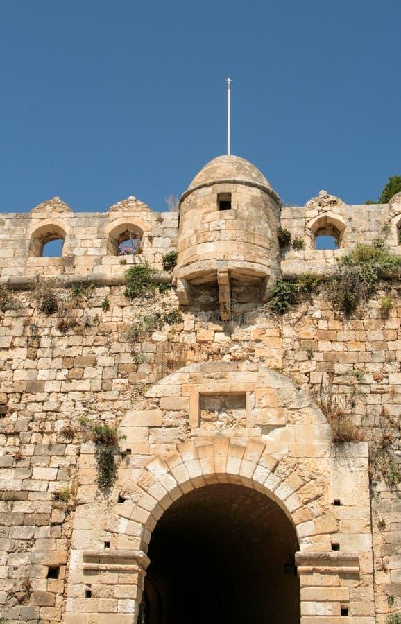 Vue gentille de Rethymno, Crète, Grèce images stock